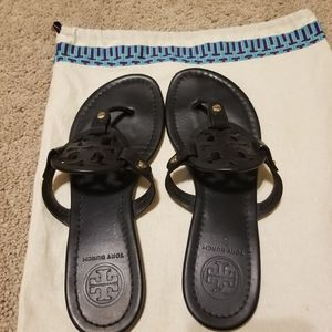 Tory Burch Shoes - Auth tory burch Miller sandals Matte black sz 7.5
